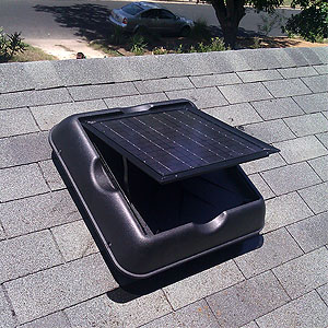 Solar attic fans installed by Green Star Solutions, authorized partner with Solar Royal